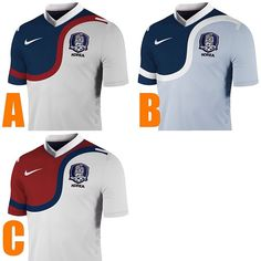 #korea second jersey options for the #worldcup2014 selection