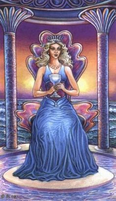 Queen of Cups by David Higgins (Sacred Isle Tarot)