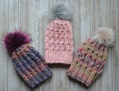 Whether you're a cable pro with your knitting or you've been too scared to try them, this pattern is for you! This pattern moves at lightening speed and requires ZERO cable needles. Easy Knitting Patterns, Knitting Stitches, Knitting Projects, Crochet Projects, Crochet Patterns, Hat Patterns, Simple Knitting, Free Knitting, Loom Knitting
