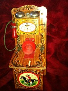 The Gong Ranch Cowboy Telephone Toy Hand Crank Phone from The Early 50S | eBay