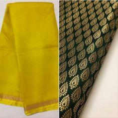 Pure kota silk saree with banarasi brocade blouse