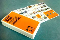 Brochure with property listings for JLG Real Estate by Wesley Botman, via Behance