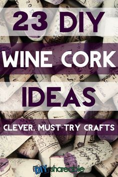 23 Clever Wine Cork Crafts (YOU NEED TO TRY) Wine Cork Crafts – These crafts are unique and some are easy enough for kids. I've created amazing conversation pieces and put all of my well earned wine corks to good use! Wine Craft, Wine Cork Crafts, Wine Bottle Crafts, Bottle Art, Bead Crafts, Fun Crafts, Wine Cork Wreath, Wine Cork Art, Upcycled Crafts