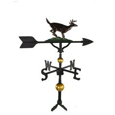 Montague Metal Products Deluxe Buck Weathervane Finish: Natural