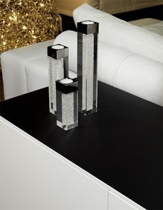 Suporturi lumânare piloni Crystal Infinity cu cristale Swarovski Implexions Swarovski, Crystals, Infinity, Decor Ideas, Home Decor, Infinite, Decoration Home, Room Decor, Crystal