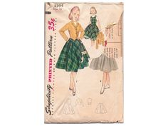 Hey, I found this really awesome Etsy listing at https://www.etsy.com/ca/listing/202663738/vintage-1950s-girls-sewing-pattern