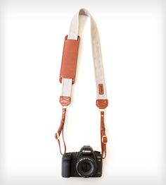 Leather Camera Strap – Stone