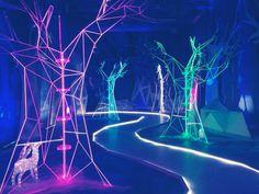 #psytrance #psychedelic #trance #festival #visionary Event Lighting, Neon Lighting, Lighting Design, Stage Design, Event Design, Light Art Installation, Neon Aesthetic, Bacardi, Scenic Design