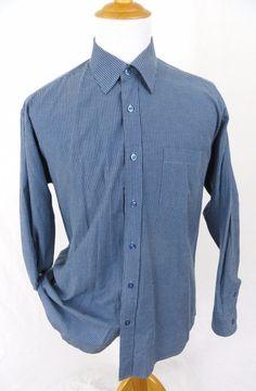 Thomas Pink London Blue Dress Shirt XXL 18 Pinstripe Luxurious Cotton Striped #ThomasPink