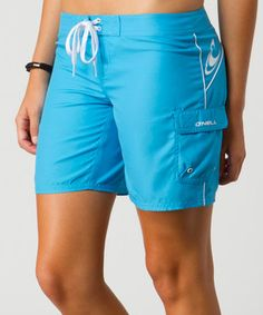 Come surf, sand or swimming pool, these sleekly styled shorts make a savvy pick. Their drawstring waist secures a custom, flattering fit, while a handy side pocket keeps tiny essentials close.