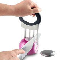 Easy Onion Holder Slicer Vegetable Tools Tomato Cutter Stainless Tteel Kitchen Gadgets No More Stinky Hands Kitchen Accessories - Kitchen Appliances and Tools - Kitchen Tools Home Gadgets, Smart Kitchen, Kitchen Tools And Gadgets, Cooking Gadgets, Cooking Tools, Kitchen Items, Kitchen Hacks, Awesome Kitchen, Kitchen Dining
