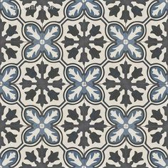 "Fireplace/pool house-Cement Tile Shop - Encaustic Cement Tile ""Avallon Navy"" *Special order-7-10 weeks Floor Patterns, Tile Patterns, Textures Patterns, Pool Remodel, Bath Tiles, Encaustic Tile, Color Tile, Background Patterns, Decoration"