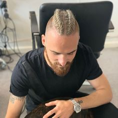 Hairstyles Braids mohawk 53 Viking Hairstyles for Men You Need To See! Braided Dreadlocks, Mohawk Braid, Haircuts Straight Hair, Haircuts For Men, Mens Braids Hairstyles, Viking Hairstyles, Viking Haircut, Hair And Beard Styles, Long Hair Styles