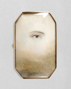 Portrait of a Right Eye. English, c. 1790-1800 Watercolor on ivory