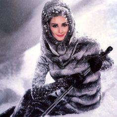 Wilhelmina is wearing a Ben Kahn fur coat, photo John Rawlings, 1962