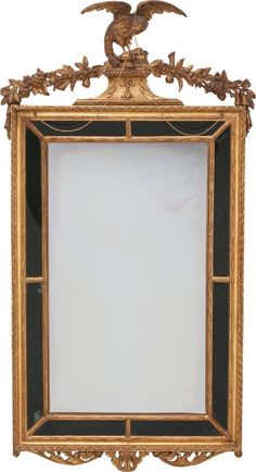 63155: A French Neoclassical Carved Giltwood Mirror Fra : Lot 63155