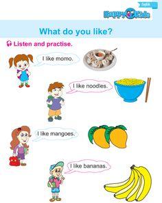 Kindergarten English Listen And Practise English Grammar Book, English Book, English Literature, English Class, English Language, Preschool Workbooks, Free Preschool, Worksheets For Kids, Activities For Kids