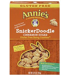 Annie's Gluten-Free Bunny Cookies, Snickerdoodle- not bad. They are pretty yummy for gluten free.
