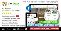 REHub v7.1.7.4 WP Price Comparison, Affiliate Marketing, Store Theme