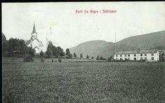 Nord-Trøndelag fylke Stjørdal kommune Hegra Hegre med kirken og trolig prestegården. Utg J & Cos Eftf C.J. Jr  stemplet 1909