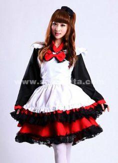 2014 Fashion japanese maid costume,cute maids uniform dresses for women