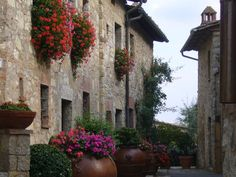 Side Street in Chianti: A simple walk through a local village became a colorful reminder of our last trip to Tuscany!