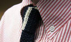 seersucker button-down + cool knit tie!