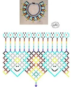 бисероплетение вечернее колье схема: 7 тыс изображений найдено в Яндекс.Картинках Diy Necklace Patterns, Bead Loom Patterns, Beaded Jewelry Patterns, Beading Patterns, Beading Projects, Beading Tutorials, Bead Loom Bracelets, Beaded Collar, Handmade Beads