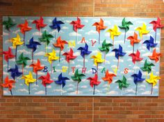 May Birthday Bulletin Board- Pinwheels