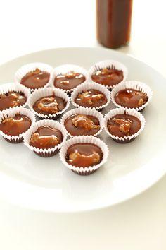 Bourbon Caramel Almond Butter Cups @Dana Shultz | Minimalist Baker