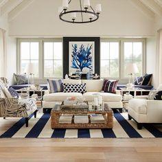 Dekorasyon = Mutluluk!: Sahil Evi Tarzı Oturma Odaları