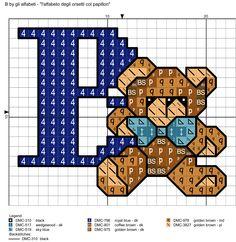 alfabeto degli orsetti col papillon: B