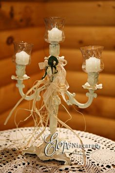 Rustic chabby chic table decor