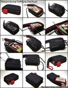 Paracord Survival Tin Playing Card Pouch process pics by Stormdrane