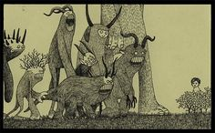 Frightening Monsters  ***Drawn On Post-It Notes!!