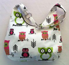Ladies+Hobo+Handbag+Purse+Owl+Design