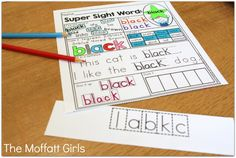 This Sight Word Super Stars NO PREP Packet is both EFFECTIVE and FUN for Kindergarten students as they learn to read and master sight words!
