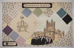 Downton Mood Boards from Andover Fabrics.  This is the main board with some of the blender fabrics.