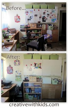 Craft Room Before and After Pictures