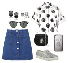 """""""Untitled #98"""" by ninaignatova ❤ liked on Polyvore featuring Miss Selfridge, Dolce&Gabbana, Office, Chloé, Misbehave, Ray-Ban, Pieces and Kate Spade"""