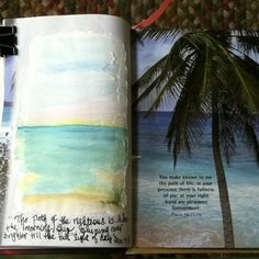 """I love the idea of repurposing old books for journaling. Daniel Smith makes a wonderful medium called """"Watercolor Ground"""" that allows you to watercolor on any surface. Simply brush on and allow to dry before painting. Watercolor, Tisha Sheldon"""