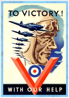To Victory With Our Help - Vintage Propaganda Poster Art Print - Free Shipping!
