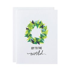 Spread holiday cheer with a modern christmas card shop abstract letterpress holiday card joy to the world christmas card hand lettering m4hsunfo
