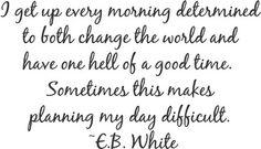 E.B. White Quote