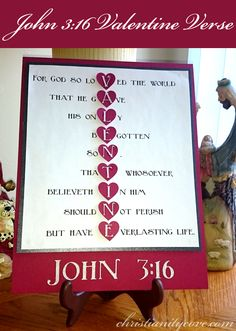 Create a wonderful and special gift, as well as learn this incredible scripture about believing in God!  With just a couple of materials and a few easy steps, you will have a treasured memory and a deeper understanding of John 3:16.