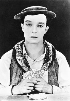 """Buster Keaton plays cards in """"The Navigator"""""""