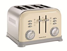 Buy Morphy Richards Accents 44038 Toaster, Cream from our Toasters range at John Lewis. Sandwich Toaster, Make Ready, Kitchen Equipment, Kitchen Decor, Kitchen Stuff, Kitchen Appliances, Kitchens, Toasters, Cucina