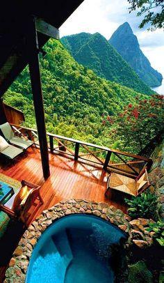 Ladera Resort, St. Lucia Caribbean #Caribbean #Travel