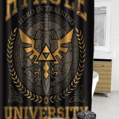 Hyrule Warrior University Zelda #showercurtain  #showercurtains  #curtain  #curtains  #bath  #bathroom  #funnycurtain  #cutecurtain