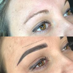 Before and After Combination Brow at thebrowstudioindy.com! Before and after, eyebrows, Microblading, powder fill, shading, embroidery, tattoo, Brow, eyelashes, lash, ombré brow, 3D brows, Tutorial, brows on fleek, makeup, Indiana Microblading, the Brow studio indy, Indianapolis, Noblesville, carmel, LipSense, Red Aspen lashes, permanent makeup, healing process